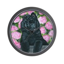 bel shep flower baby Wall Clock
