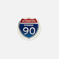 Interstate 90 - Wyoming Mini Button