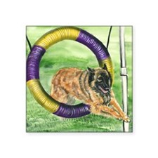 "bel terv  agility Square Sticker 3"" x 3"""