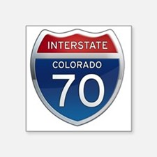 "Interstate 70 - Colorado Square Sticker 3"" x 3"""