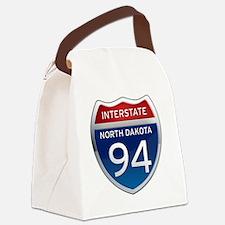 Interstate 94 - North Dakota Canvas Lunch Bag