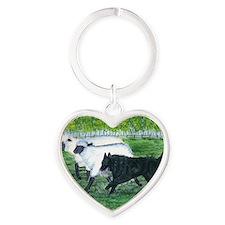 bel shep herd Heart Keychain