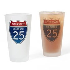Interstate 25 - Colorado Drinking Glass