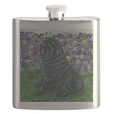 bel shep purple flower baby Flask