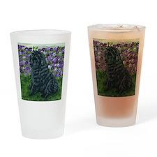 bel shep purple flower baby Drinking Glass