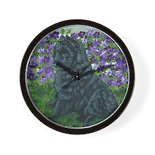 bel shep purple flower baby Wall Clock