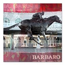 "Barbaro 2 Square Car Magnet 3"" x 3"""