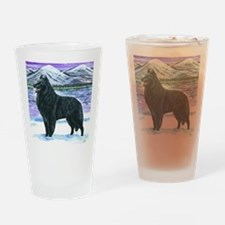 bel shep snow Drinking Glass