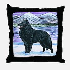 bel shep snow Throw Pillow