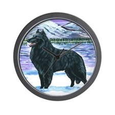 bel shep snow Wall Clock
