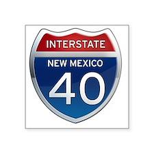 """Interstate 40 - New Mexico Square Sticker 3"""" x 3"""""""