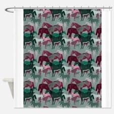 victorian horses 2 Shower Curtain