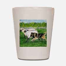 bel terv herd Shot Glass