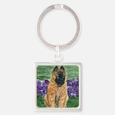 bel terv pup Square Keychain