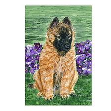 bel terv pup Postcards (Package of 8)
