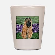 bel terv pup Shot Glass