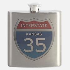 Interstate 35 - Kansas Flask