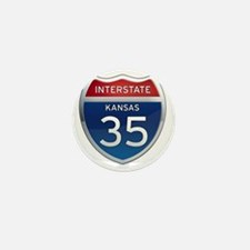 Interstate 35 - Kansas Mini Button