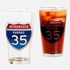Interstate 35 - Kansas Drinking Glass