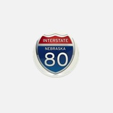Interstate 80 - Nebraska Mini Button