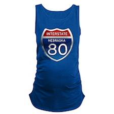 Interstate 80 - Nebraska Maternity Tank Top