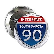 "Interstate 90 - South Dakota 2.25"" Button"