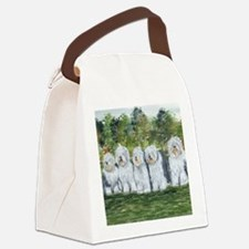 old english sheepdog Canvas Lunch Bag