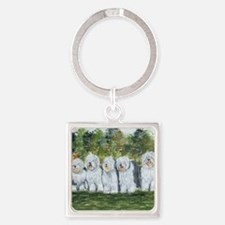 old english sheepdog Square Keychain
