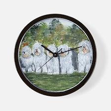 old english sheepdog Wall Clock