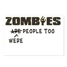 zombies are people too Postcards (Package of 8)