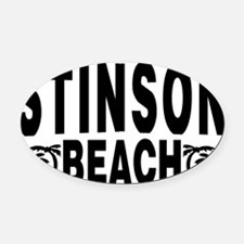 beach_stinson Oval Car Magnet
