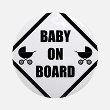 baby on board Round Ornament