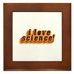 Love Science Retro Framed Tile
