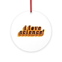 Love Science Retro Ornament (Round)