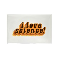 Love Science Retro Rectangle Magnet (10 pack)