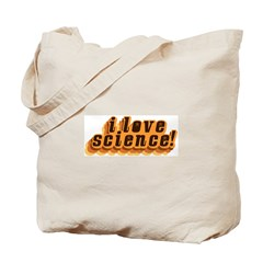 Love Science Retro Tote Bag