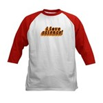 Love Science Retro Kids Baseball Jersey