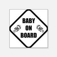 "baby on board 3 Square Sticker 3"" x 3"""