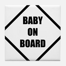 baby on board 5 Tile Coaster