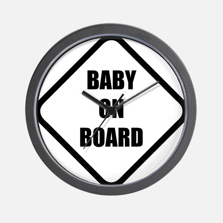baby on board 5 Wall Clock
