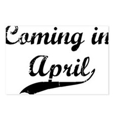 coming in april Postcards (Package of 8)