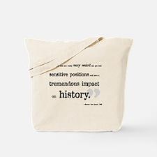 Sensitive Positions Tote Bag