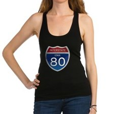 Interstate 80 - Iowa Racerback Tank Top