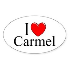 """I Love Carmel"" Oval Decal"