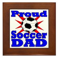 proud soccer dad Framed Tile