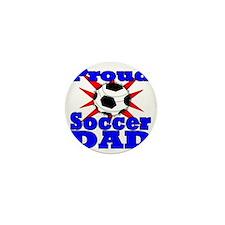 proud soccer dad Mini Button