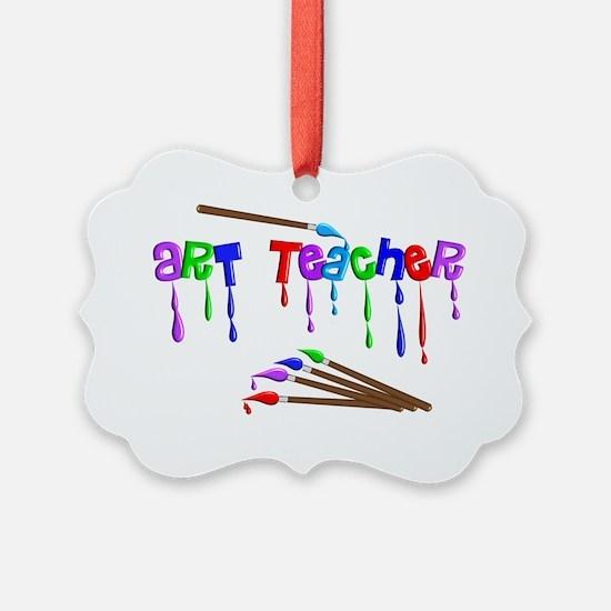 Art Teacher Multi Brushes Ornament