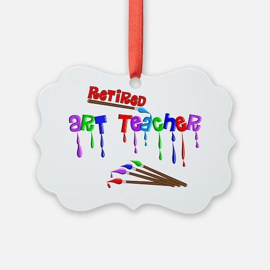 Retired ARt Teacher Multi Brushes Ornament