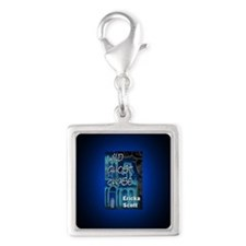 Wild Ghost Chase button mag Silver Square Charm