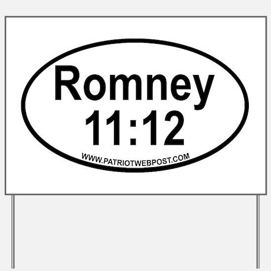 Romney Black Oval copy Yard Sign